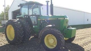 John Deere 4450 & 4050 Tractors (Low Hours) Sold on Ohio Farm Auction 12/7/13
