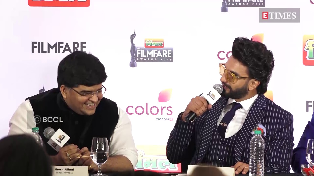 Ranveer Singh at the press conference to announce the 64th