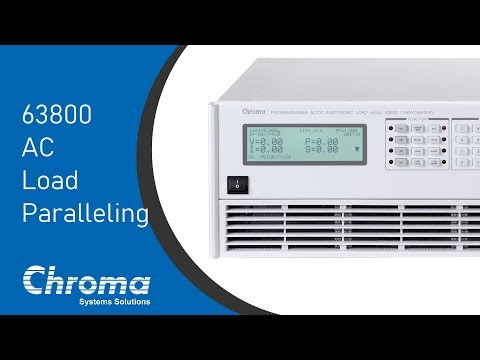 Programmable AC Electronic Load - 63800 | Chroma