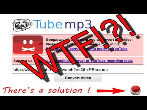 How to get around the new youtube converter copyright protection, quick and easy alternative
