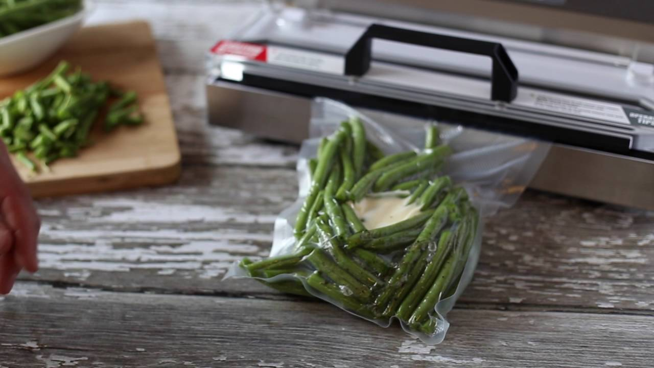 Vacuum Seal Fresh Green Beans and other Veggies