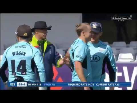 Tom Curran 4 wickets vs Essex l Natwest t20 Blast 2015