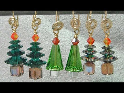 Christmas Tree Earrings Video Tutorial YouTube