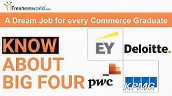The Big Four Companies Careers – Dream Job for every commerce graduate, PWC,KPMG,Deloitte,EY
