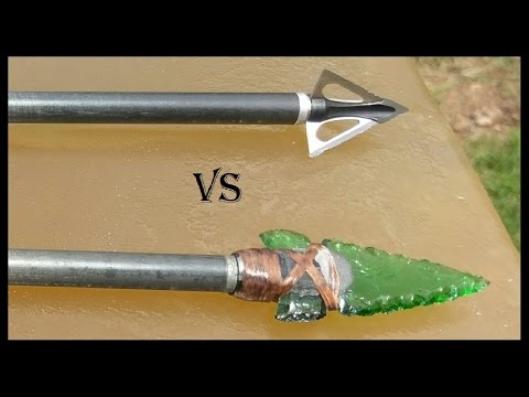 Part 1: Glass Arrowhead vs. Modern Broadhead - Ballistics Gel Penetration Comparison
