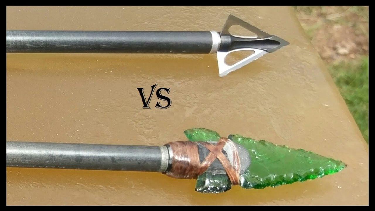 Download Part 1: Glass Arrowhead vs. Modern Broadhead - Ballistics Gel Penetration Comparison