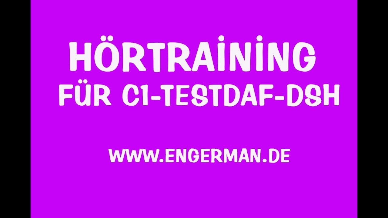 hrtraining fr c1 testdaf dsh hrverstehen fr oberstufe 5 - Dsh Prufung Beispiel Mit Losungen