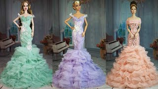 4 Gorgeous DIY Barbie Doll Dresses 👗 Glamorous Party Gown for Barbie