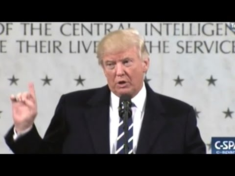 Donald Trump Gets Warm Welcome At CIA Headquarters