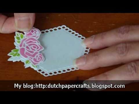 Joy crafts floral dies youtube for Joy craft flower dies