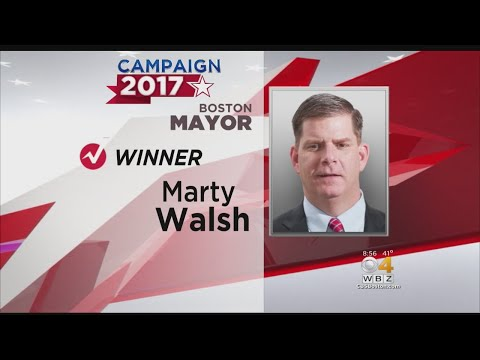 Mayor Marty Walsh Re-Elected As Boston Mayor