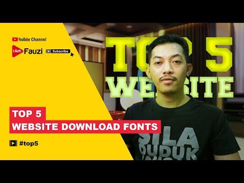 Top 5 Website Download Fonts