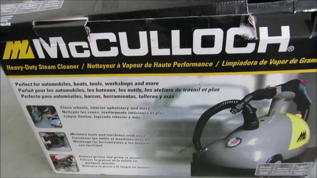 Review Of The Mcculloch Heavy Duty Steam Cleaner Part I Product