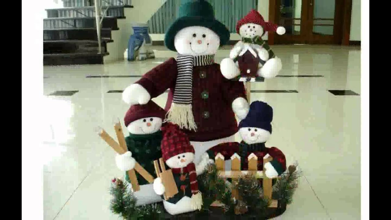 Christmas Snowman Decorations Youtube