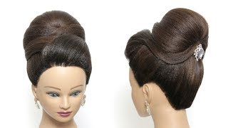 New Bridal Hairstyle For Long Hair Tutorial. Perfect  Wedding Bun Updo