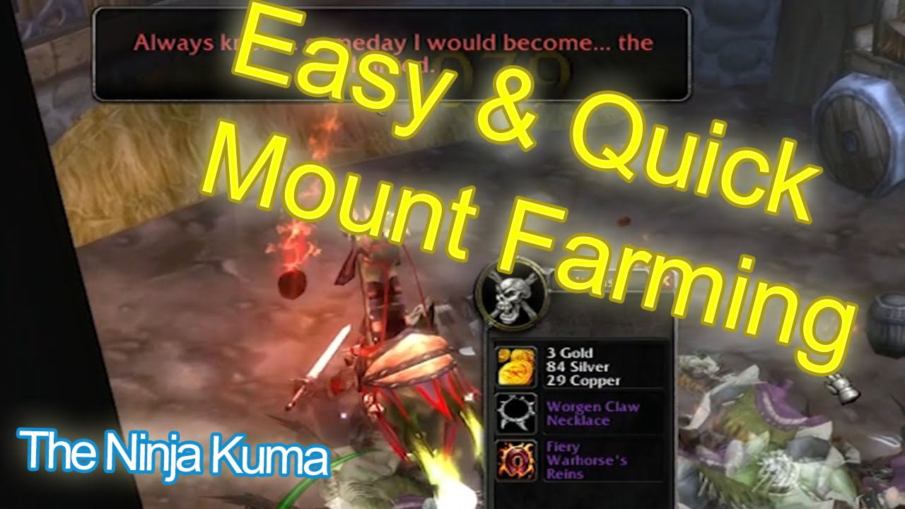 World Of Warcraft Mount Farming Guide Tips Mount Drop Reaction Youtube