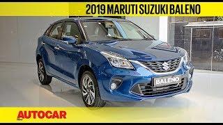 2019 Maruti Suzuki Baleno facelift | First Look & Walkaround | Autocar India Video
