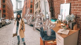 Day In My NYC LIFE: Exploring DUMBO + Shopping FOOD & GYM | Antonnette