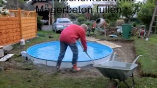Bau unseres Pools