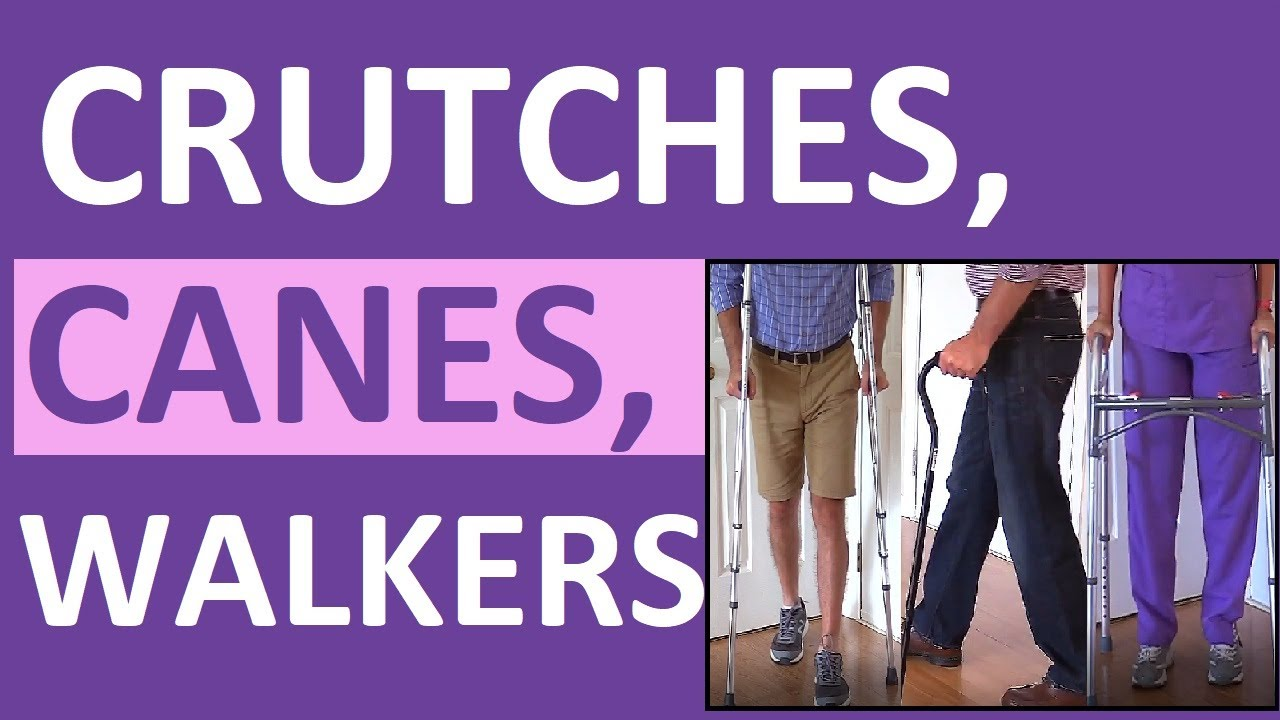 Download Crutches, Canes, and Walkers Nursing NCLEX Assistive Devices Review