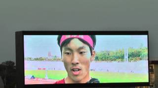 H24日本ジュニア 男子200m決勝  優勝 橋元 晃志