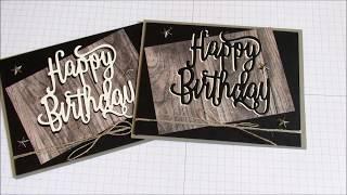 SU Wood Texture Masculine Birthday Card
