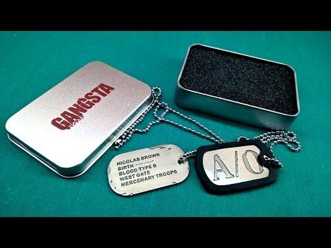 Gangsta Nicolas Brown Twilight Dog Tag V02 In A Box Unpacking