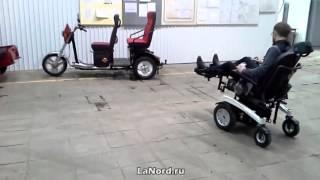 Инвалидная коляска с электроприводом(Купить инвалидную коляску с электроприводом можно в магазине LaNord.ru. Доставка по Москве и всей России., 2015-10-08T13:29:03.000Z)