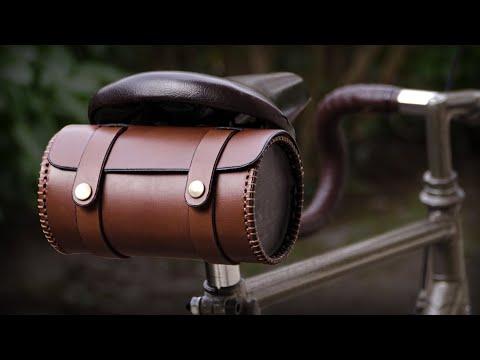 Round Leather Bicycle Bag DIY thumbnail