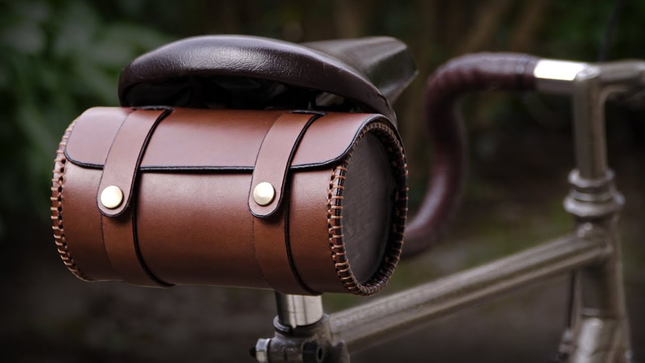 Bicycle Saddle Bag The Barrel Bag Bicycle Bag Leather Bicycle Accessories