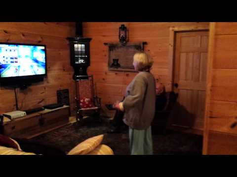 Ute Xbox bowling and speaking strange language