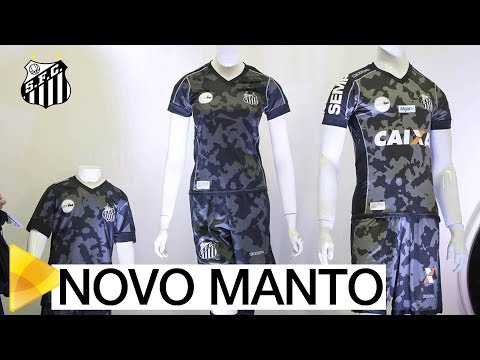 Em São Paulo, Santos lança seu novo terceiro uniforme