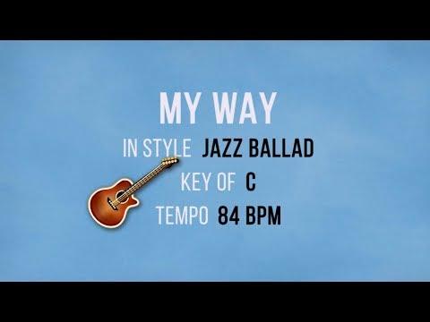 My Way - Backing Track Jazz Ballad Style
