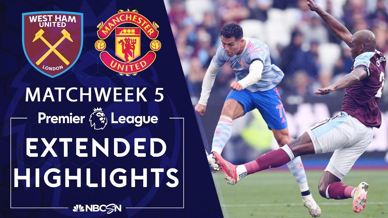 Download West Ham United v. Manchester United | PREMIER LEAGUE HIGHLIGHTS | 9/19/2021 | NBC Sports