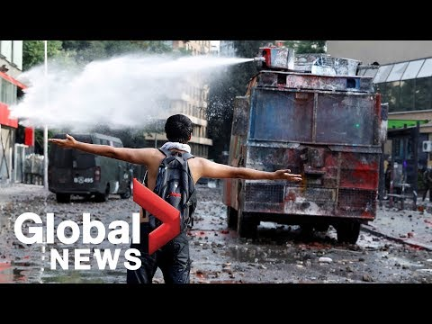 Protests Continue In Chile As Country Enters 28th Day Of Unrest