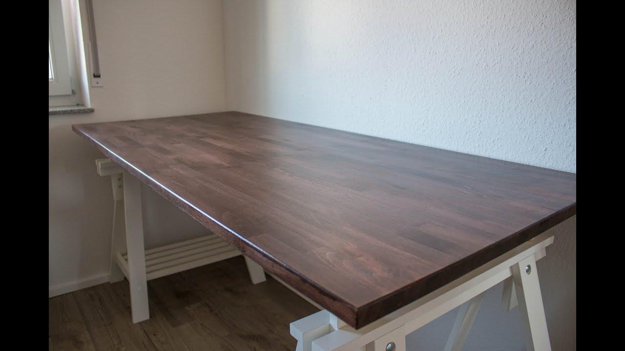 mein gaming work setup teil 1 die arbeitsplatte youtube. Black Bedroom Furniture Sets. Home Design Ideas