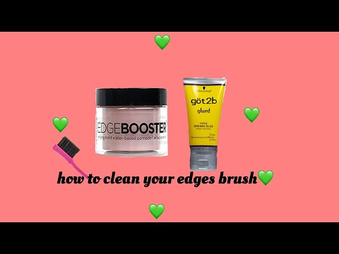 how to clean off your edges brush + how to do your edges🤷🏿♀️🌸PERIODT