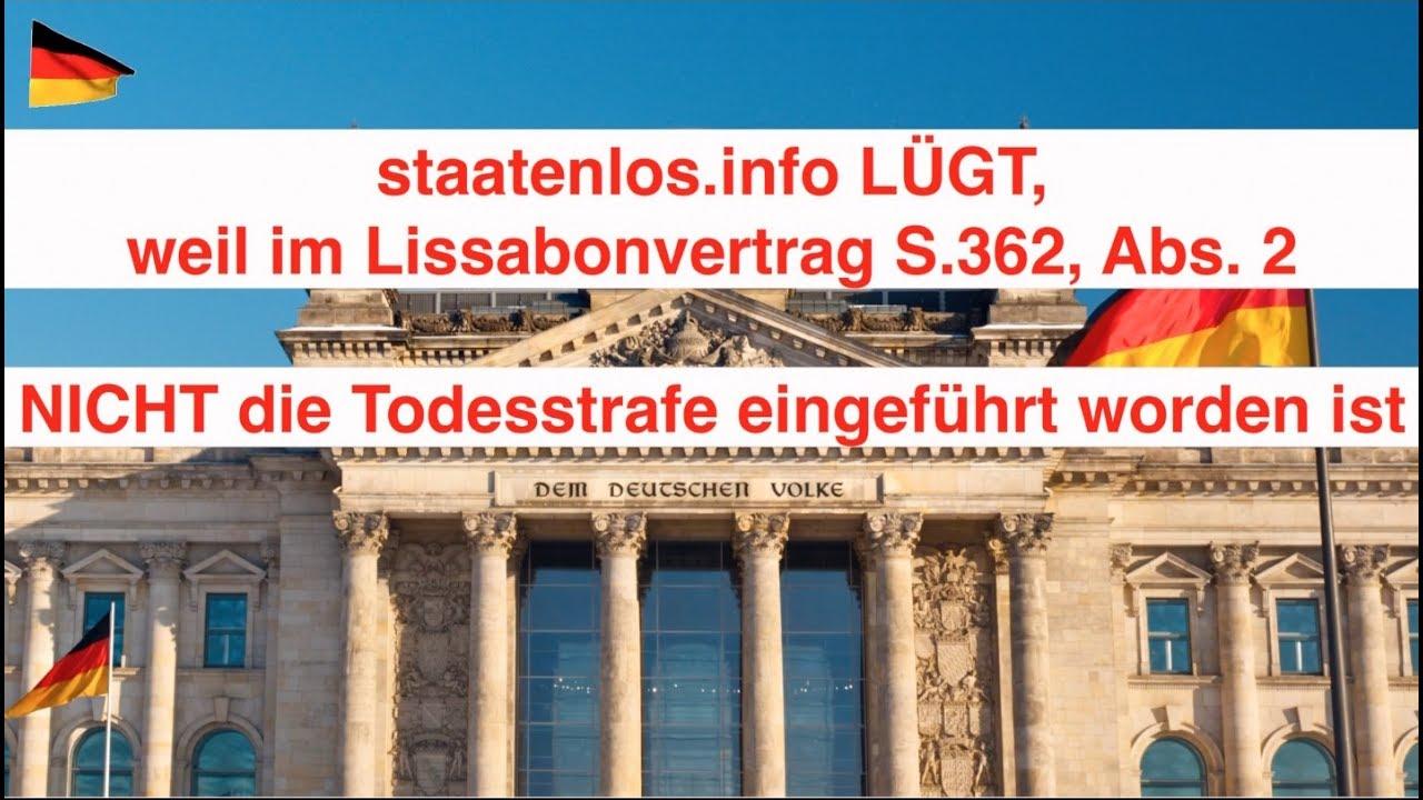 Todesstrafe Staatenlosinfo Lügt Rüdiger Hoffmann Ist Widerlegt