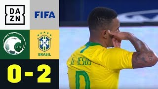 Gabriel Jesus & Co. erkämpfen Favoriten-Sieg: Saudi Arabien – Brasilien 0:2 | Testspiel | DAZN HL