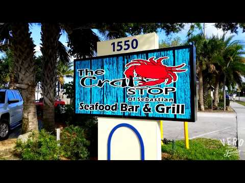 The Crab Stop Seafood Bar & Grill restaurant in Sebastian, FL!
