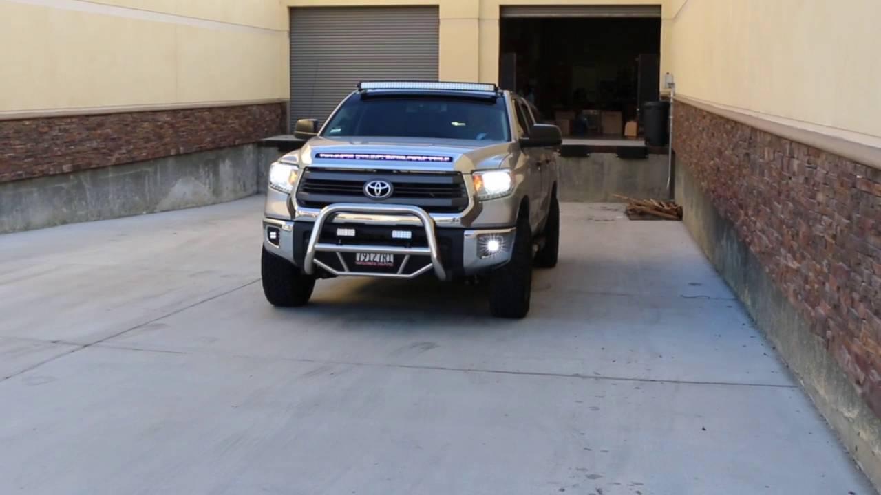 Ijdmtoy Led Fog Light Kit W Mounting Bracket For Toyota Tundra
