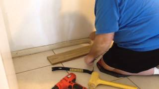 How to Remove Baseboard when Tile Laid on Top