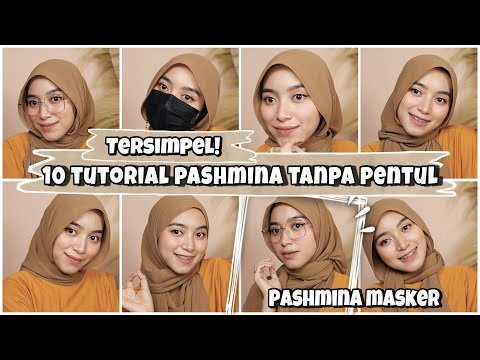 15 Tutorial Pashmina Tanpa Pentul ll Pashmina Plisket dan Hijab Instan - YouTube