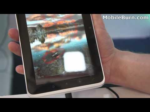 HTC Flyer tablet - live video demo