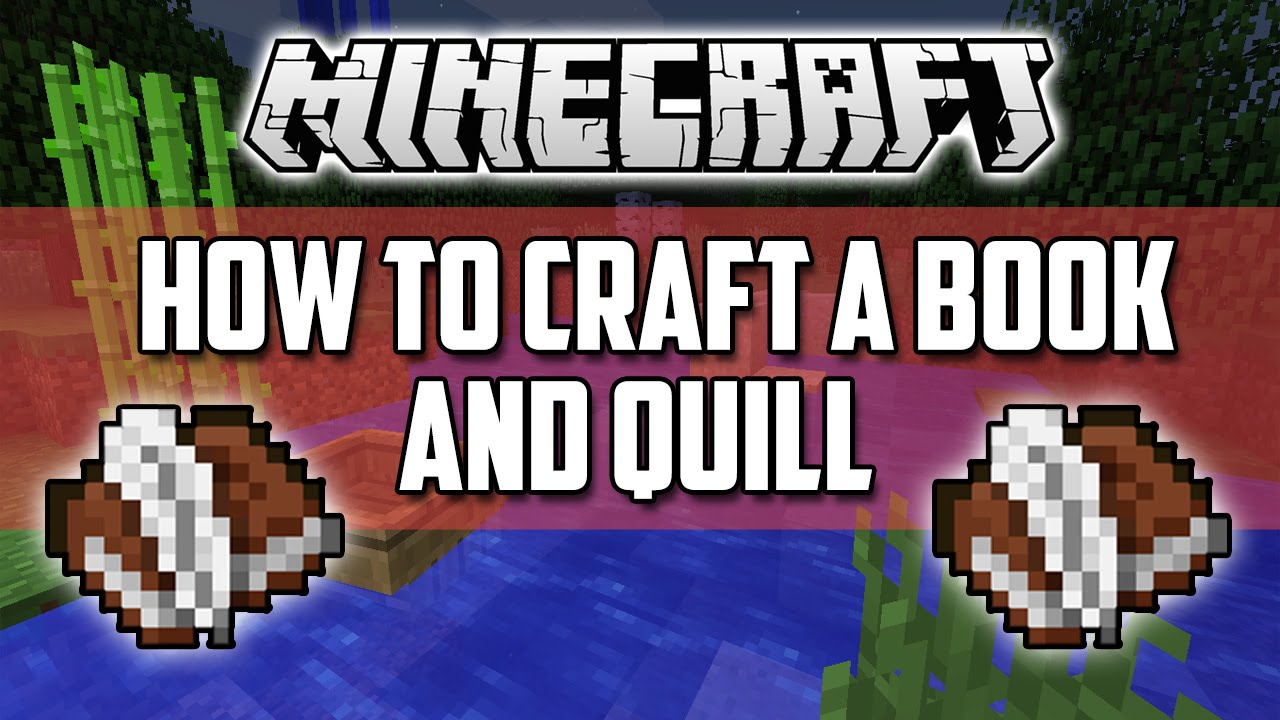Minecraft - How to make a Book and Quill (8)