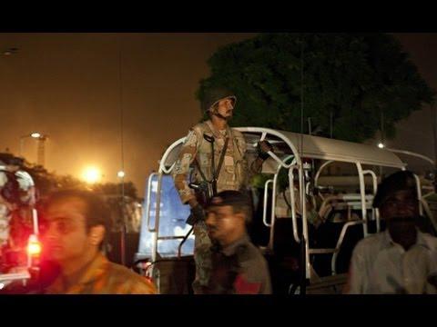 Heavy fighting at Karachi airport Attack 09 Jun 2014