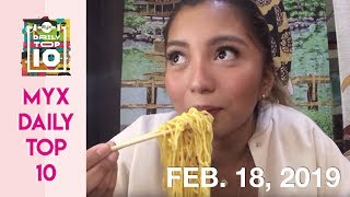 SAMM ALVERO Goes On A Japanese Food Trip | MYX DAILY TOP 10