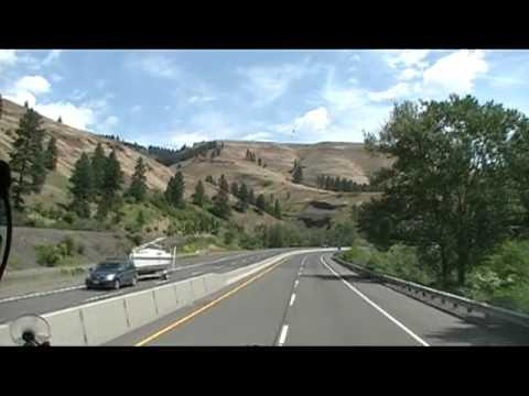 Rolling Through The Blue Mountain Range In Eastern Oregon