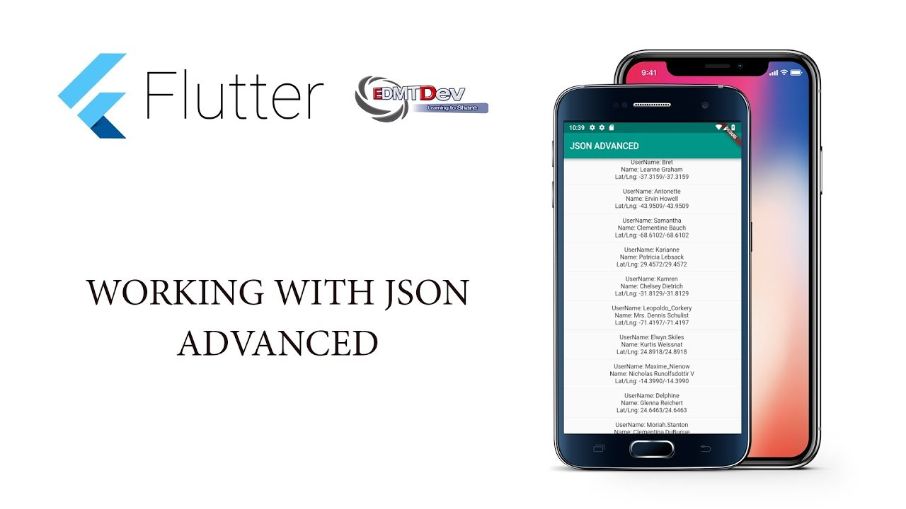 Flutter Tutorial - 13 Working with Json Advanced