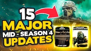 Warzone Season 4: All 15 Major Updates & Changes! New Weapon, 200+ Players & More  Modern Warfare